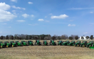 John Deere tractors at Lord's Seed